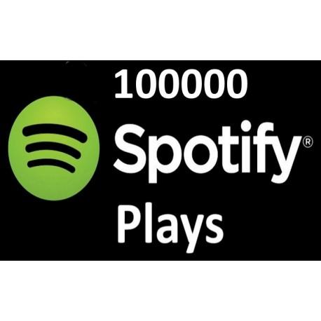 100000 Spotify plays Kaufen