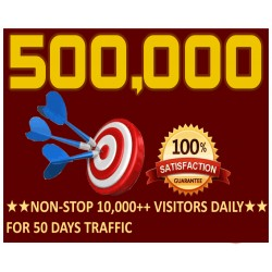 500.000 Webseite Traffic
