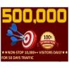 500.000 Webseite Traffic