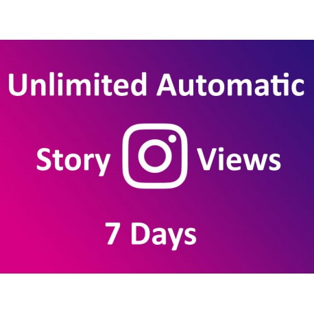 Buy automatic Instagram story views 7 days