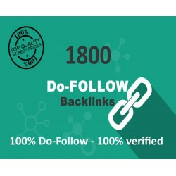 1800 DoFollow Backlinks