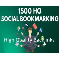1500 SEO Social Bookmarking Hochwertige Backlinks