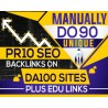 MANUALLY Do 90 UNIQUE PR10 SEO Backlinks on DA100 sites Plus Edu Links