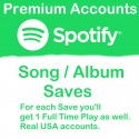 Buy Spotify Saves from Premium Accounts