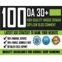 100 Do-Follow Unique Domain DA 30+ Parmanent Blog Kommentare Backlinks