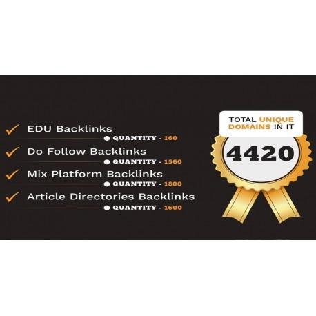 4420 Do-Follow EDU Artikelverzeichnisse und Mix Plattform Backlinks