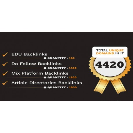 Buy 4420 Do-follow, .EDU, Article directories and Mix platforms backlinks