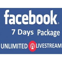 Facebook Live Stream für 7 Tage Kaufen