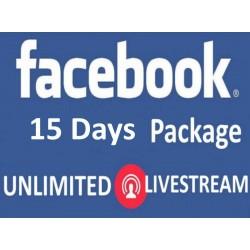 Facebook Live Zuschauer für 15 Tage