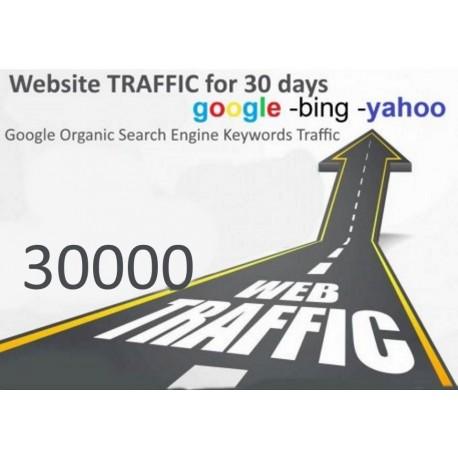 Get 30,000 Keywords Targeted Web Traffic Google Yahoo Bing