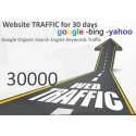 Get 30,000 Keywords Targeted Web Traffic Google Yahoo Bing 30 Days