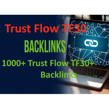 1000+ Trust Flow TF30 + Backlinks