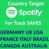 Buy Country Spotify Track Saves