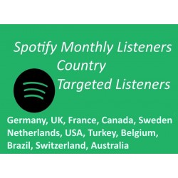 Buy Targeted Spotify Monthly listeners