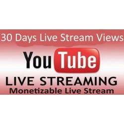 Buy 30 Days YouTube Live Stream Viewers