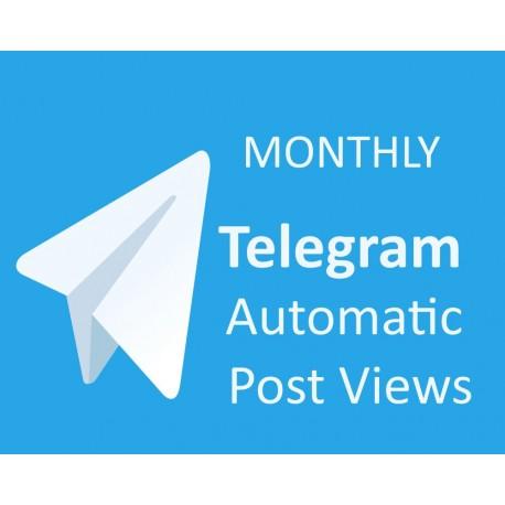 Buy AutoTelegram Post Views Monthly