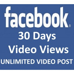 FACEBOOK VIDEO Klicks Views 30 Tage