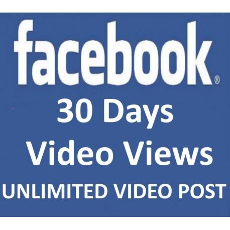 FACEBOOK VIDEO Klicks Views 30 Tage