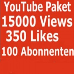 YOUTUBE VIEWS 15000 + LIKE 350 + subscribers 100