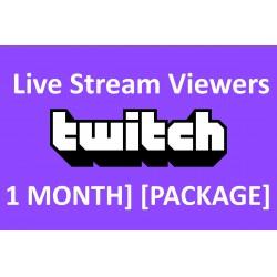 Buy Twitch Live stream 30 days