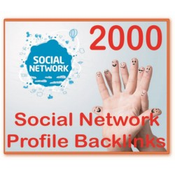 2000 Social Network Profile PR1-8 Backlinks