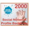 2000 Social Network Profile PR1-8 Backlinks