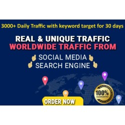 Get 30,000 Keywords Targeted Web Traffic Google Yahoo Bing 30 Days