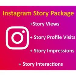 Buy Instagram Story Views + Story Profile Visits + Story Impressions + Story Interactions