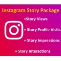 Instagram Story Views + Story Profile Visits + Story Impressions + Story Interactions Kaufen