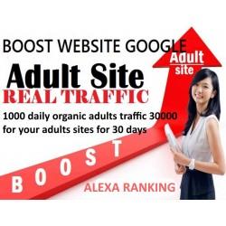 Erwachsenen Websites 30 Tage lang täglich 1000 Traffic