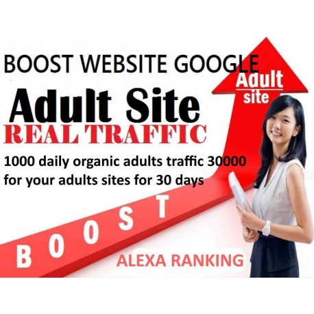 Buy 1000 daily organic adults traffic for 30 days