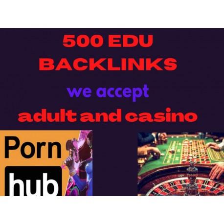 Buy 500 EDU BACKLINK adult and casino