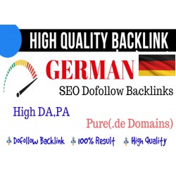 5 High Quality Backlink 25 Plus DA PA German Seo PBN Backlink