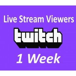 Twitch Live zuschauer für 1 Woche