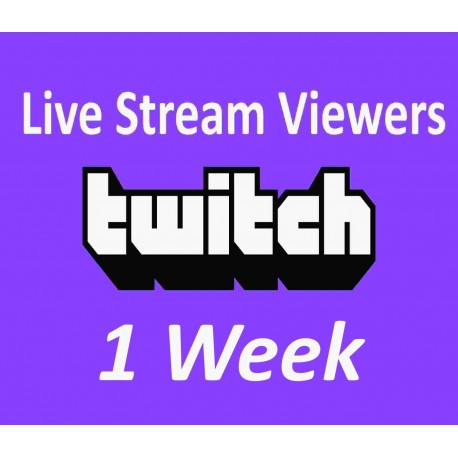 Buy Twitch Live Viewers 1 week