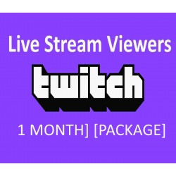 Buy Twitch Live stream monthly