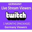 Buy Germany Twitch Live stream monthly
