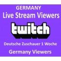 Deutsche Twitch Live zuschauer für 1 Woche