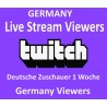 Buy Germany Twitch Live Viewers 1 week