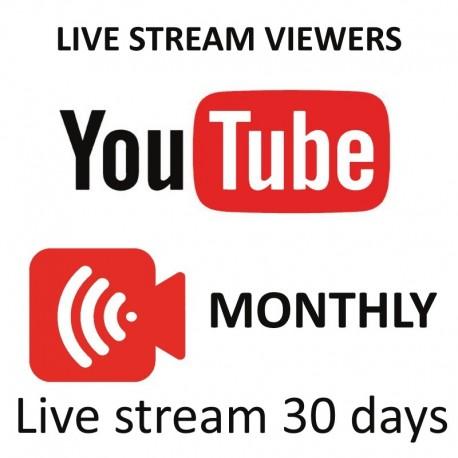 YouTube Live zuschauer ein Monath