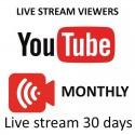 YouTube Live zuschauer ein Monat