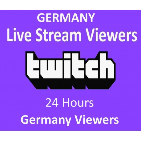 Buy Germany Twitch Live Viewers 1 Days