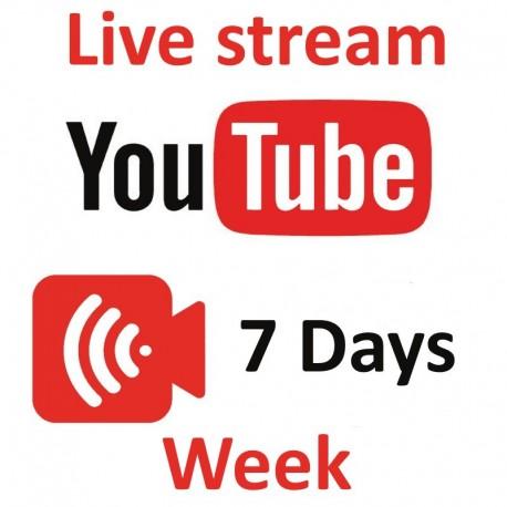 YouTube Live zuschauer ein Woche